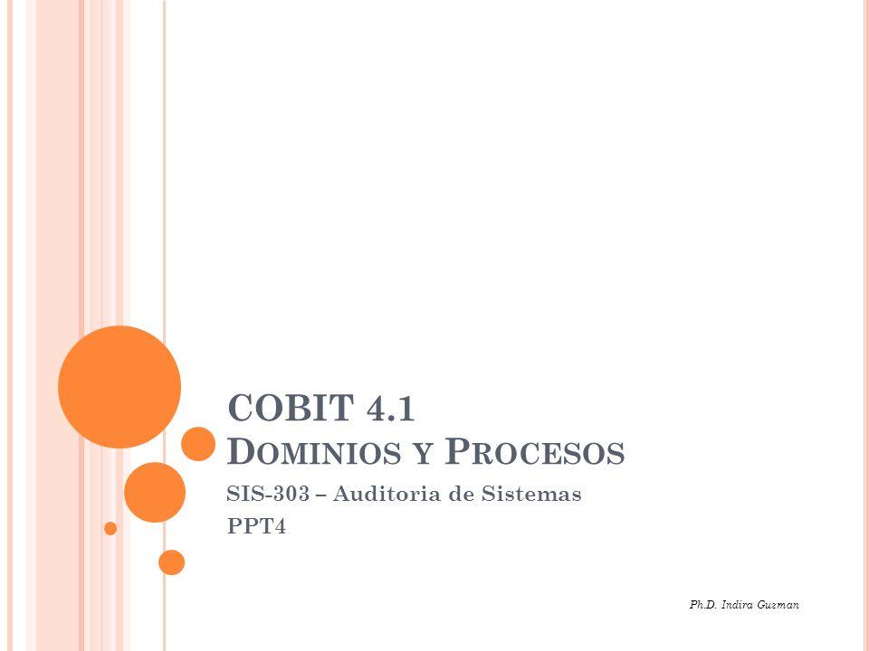 COBIT 4.1 COBIT es un marco de trabajo y un conjunto de herramientas de Gobierno de Tecnología de Información (TI) que permite a la Gerencia cerrar la brecha entre los requerimientos de control, aspectos técnicos y riesgos de negocios.