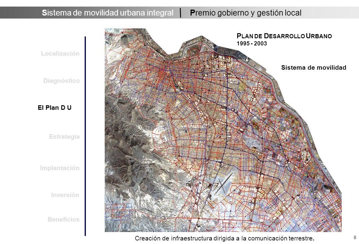 Sistema de movilidad urbana integral 9 Premio gobierno y gestión local Objetivo Primario del Sistema de Movilidad Comunicación eficiente en el contexto del desarrollo sustentable.