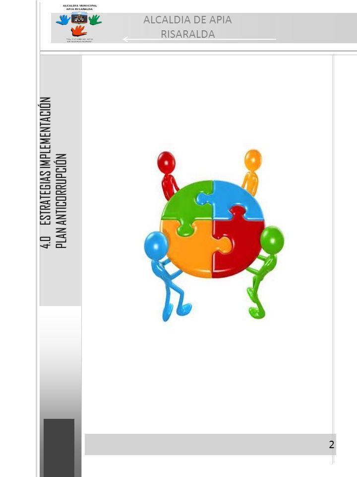 2 ALCALDIA DE APIA RISARALDA 4.0 ESTRATEGIAS IMPLEMENTACIÓN PLAN ANTICORRUPCIÓN