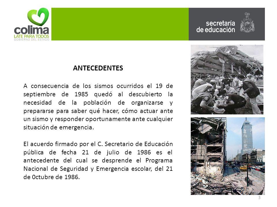 54 PROGRAMA DE PROTECCION CIVIL Y EMERGENCIA ESCOLAR