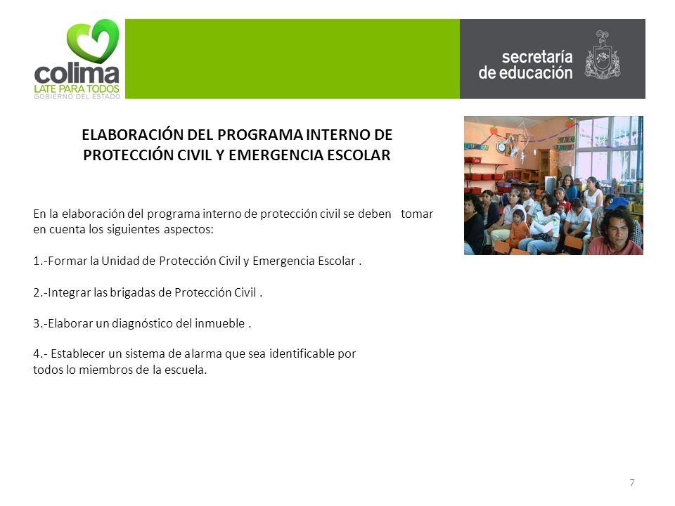 ELABORACIÓN DEL PROGRAMA INTERNO DE PROTECCIÓN CIVIL Y EMERGENCIA ESCOLAR 5.-Marcar las señalizaciones.