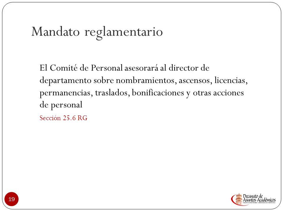 Comité de Personal: Roles 18