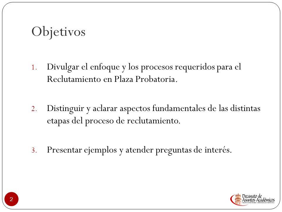 Beatriz Rivera-Cruz, PhD Decana Decanato de Asuntos Académicos R ECLUTAMIENTO EN LA UPRRP