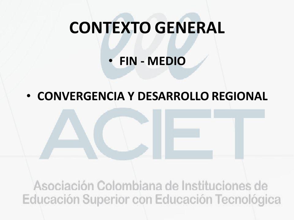 CONTEXTO GENERAL FIN - MEDIO CONVERGENCIA Y DESARROLLO REGIONAL