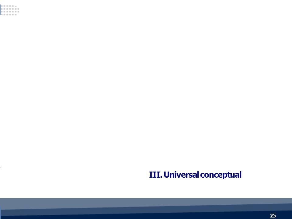 25 III. Universal conceptual