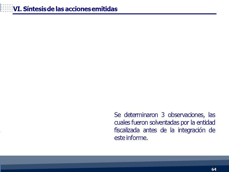 Se determinaron 3 observaciones, las cuales fueron solventadas por la entidad fiscalizada antes de la integración de este informe.