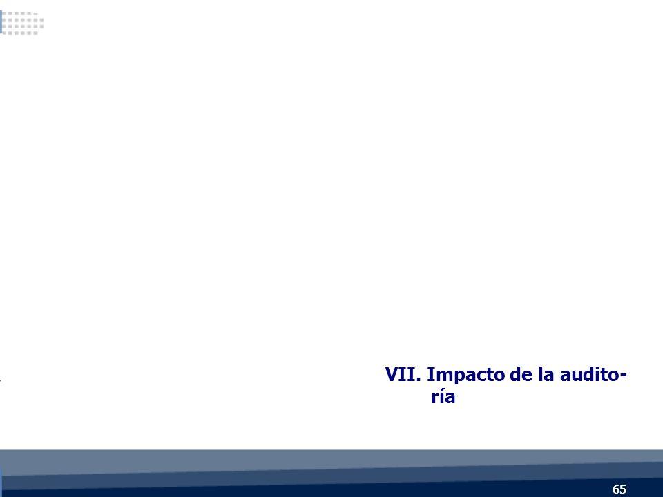 VII. Impacto de la audito- ría 65