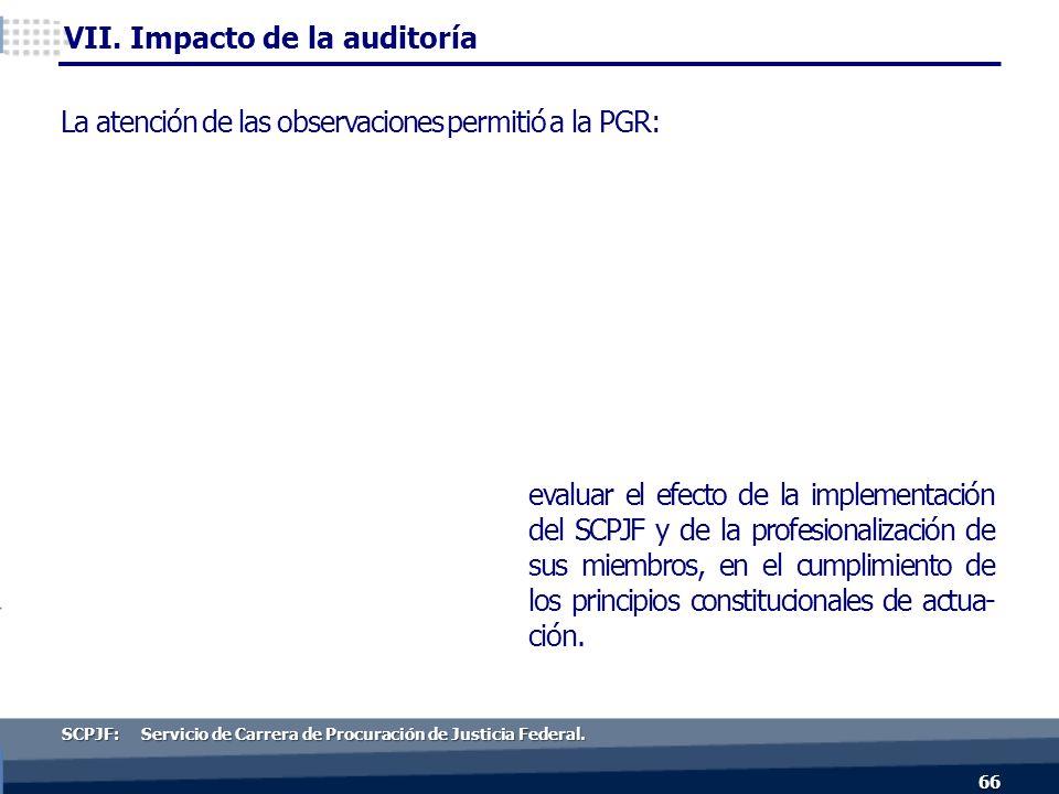 evaluar el efecto de la implementación del SCPJF y de la profesionalización de sus miembros, en el cumplimiento de los principios constitucionales de actua- ción.