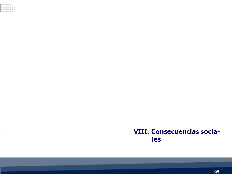 VIII. Consecuencias socia- les 69