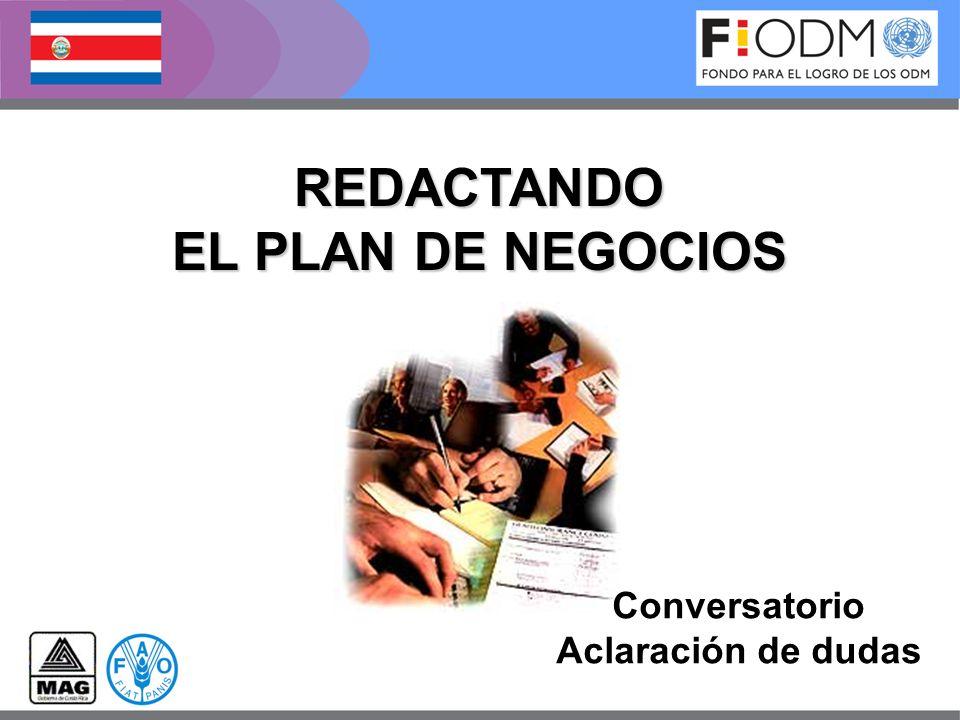 Conversatorio Aclaración de dudas REDACTANDO EL PLAN DE NEGOCIOS