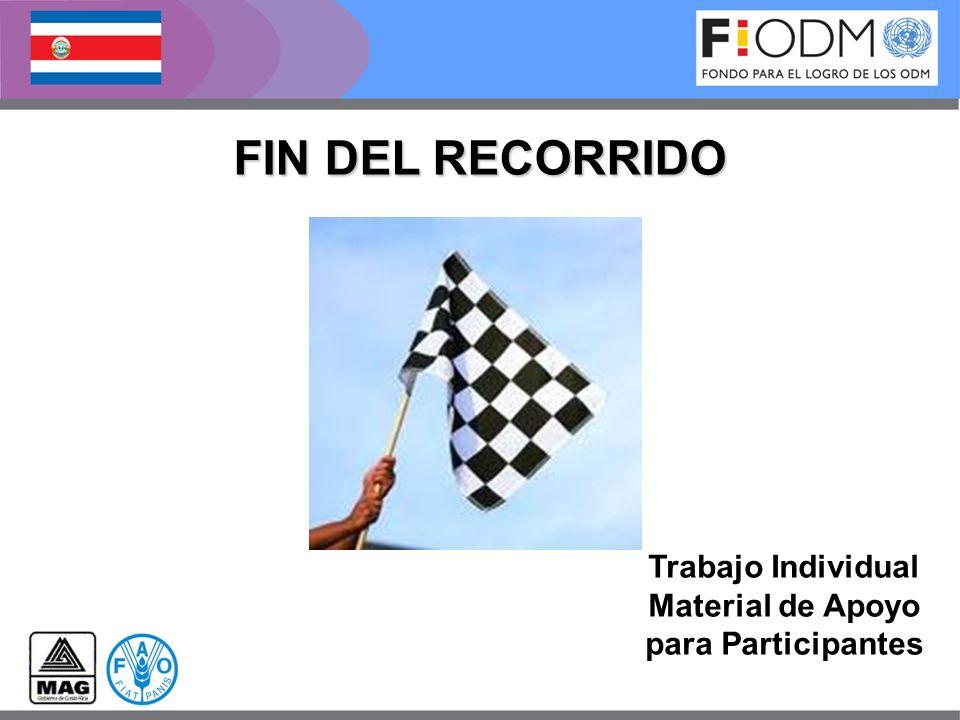 FIN DEL RECORRIDO Trabajo Individual Material de Apoyo para Participantes