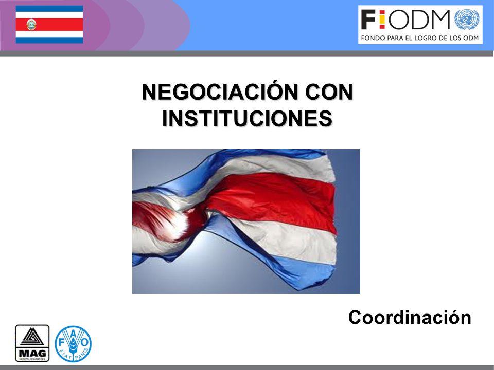 Coordinación NEGOCIACIÓN CON INSTITUCIONES