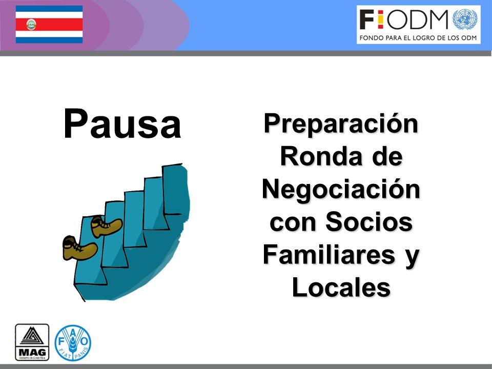 Preparación Ronda de Negociación con Socios Familiares y Locales Pausa