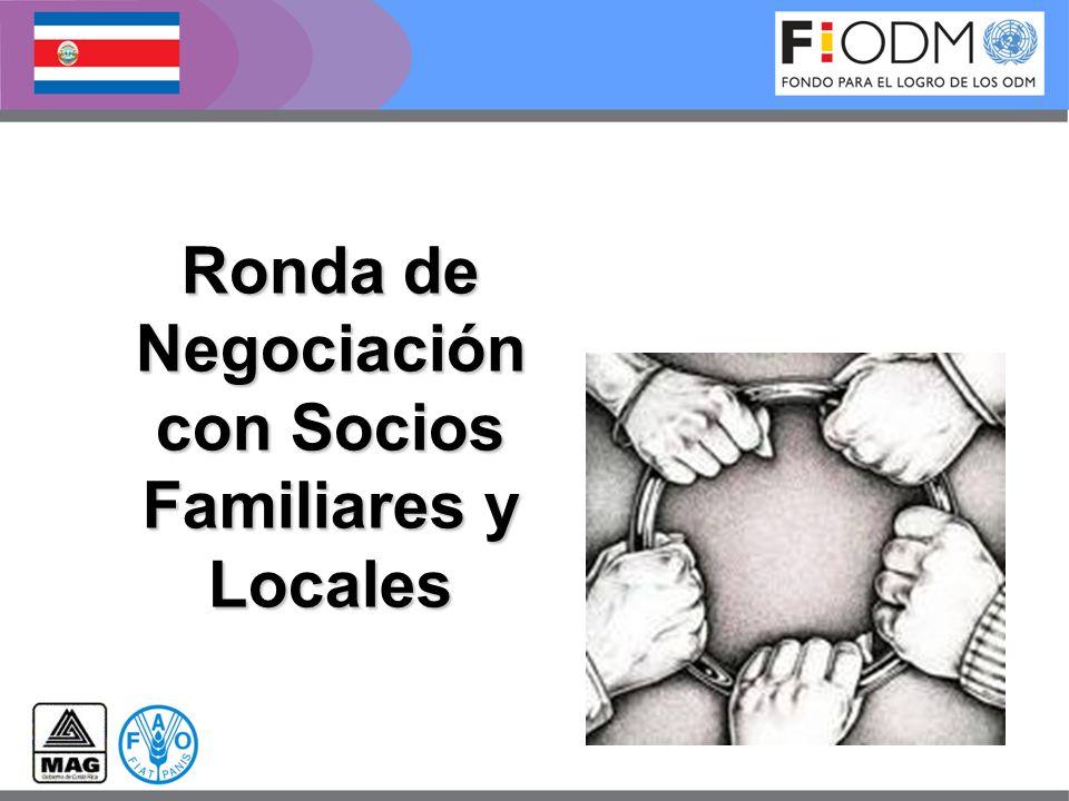 Refrigerio con los socios familiares y locales