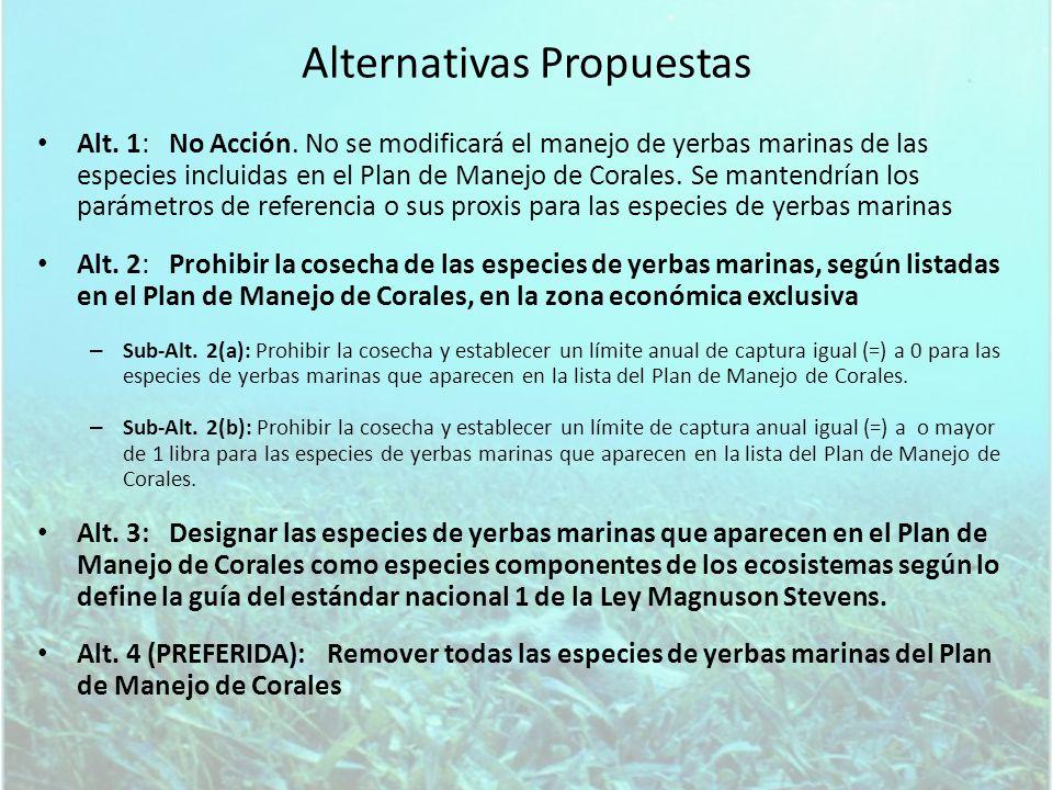 Componentes de ecosistemas Las especies componentes del ecosistema son especies dentro de una pesquería que no se utilizan directamente y que no se consideran como parte de una pesquería pero que se pueden incluir en el plan de manejo para que se recopile información, para incluir en la especificación de OY para otras pesquerías asociadas al ecosistema, como especies a considerar en el desarrollo de medidas de manejo y conservación de pesquerías asociadas a estos ecosistemas, y o para consideración de otros aspectos de los ecosistemas.