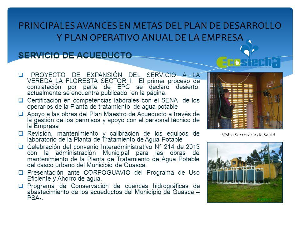 SERVICIO DE ACUEDUCTO PROYECTO DE EXPANSIÓN DEL SERVICIO A LA VEREDA LA FLORESTA SECTOR I: El primer proceso de contratación por parte de EPC se decla