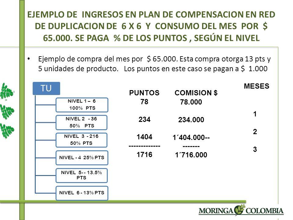 COMPRA DELMES SON 5 UNIDADES DE PRODUCTO POR $ 65.00 ESTA COMPRA DA 13 PTS.