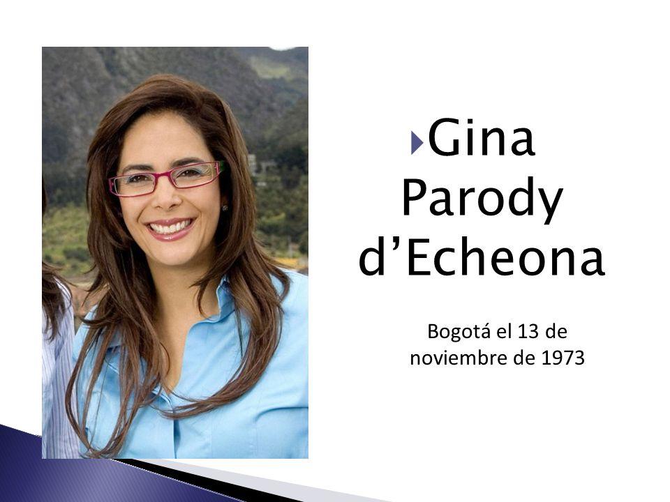 Gina Parody dEcheona Bogotá el 13 de noviembre de 1973