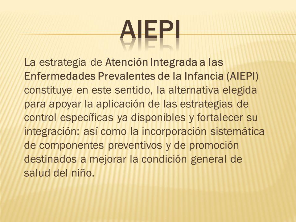 La estrategia de Atención Integrada a las Enfermedades Prevalentes de la Infancia (AIEPI) constituye en este sentido, la alternativa elegida para apoy