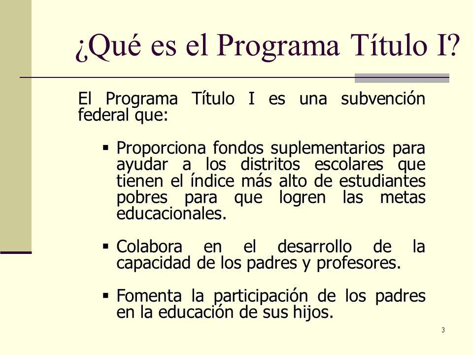 3 ¿Qué es el Programa Título I.