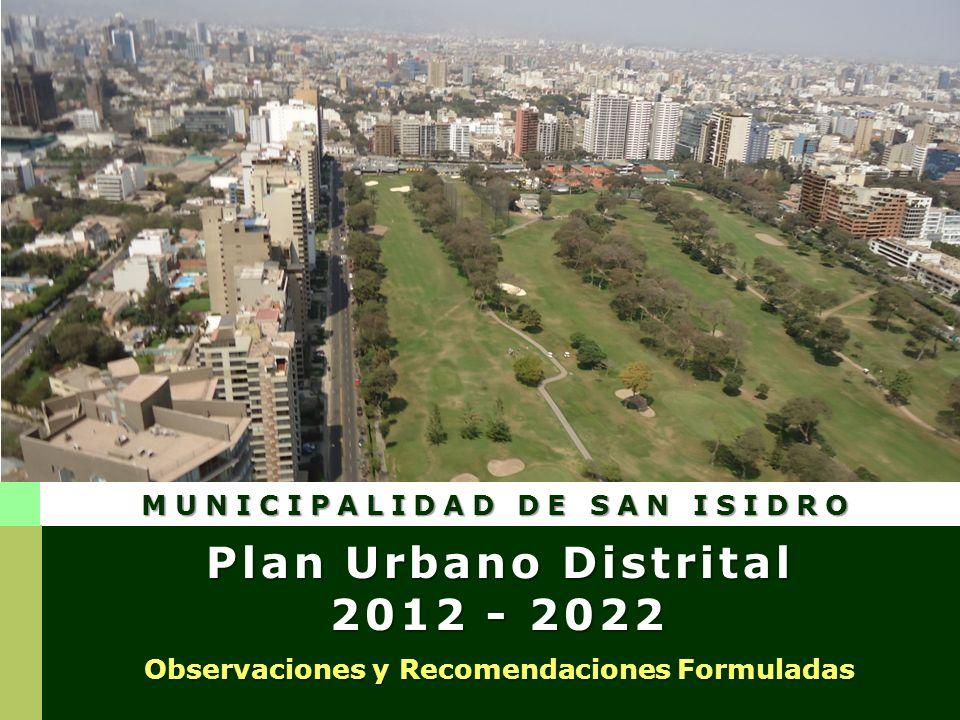 Observaciones y recomendaciones SANIDAD BELLEZA Y COSMETICA S.A.C. Av. Miguel Dasso N° 0141