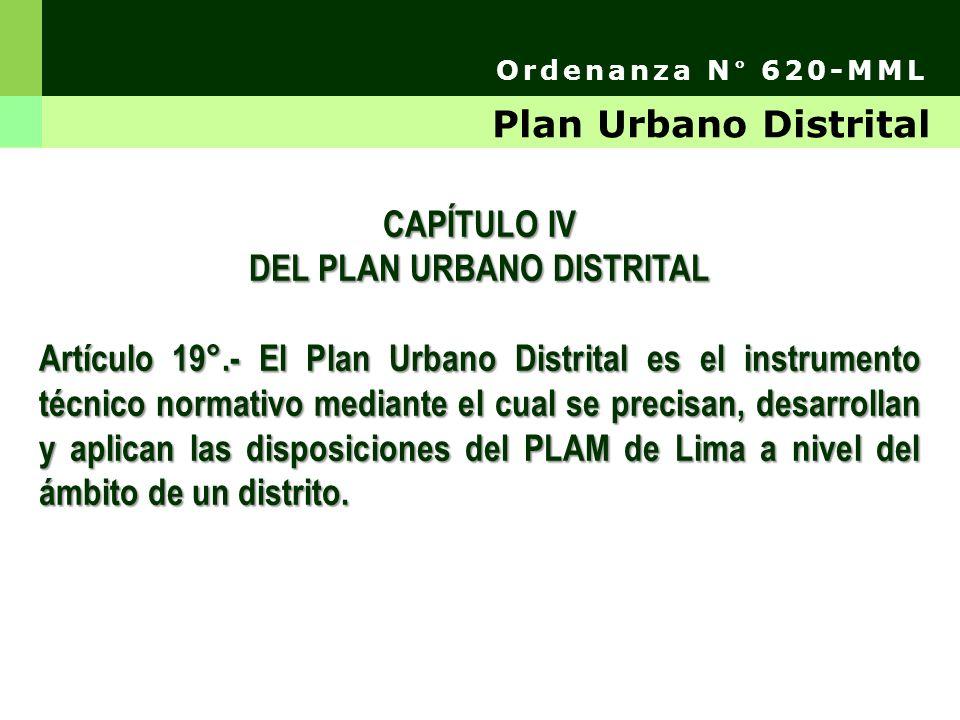 Artículo 21°.- La Municipalidad Distrital formula y aprueba su PLAN URBANO y su normativa específica.
