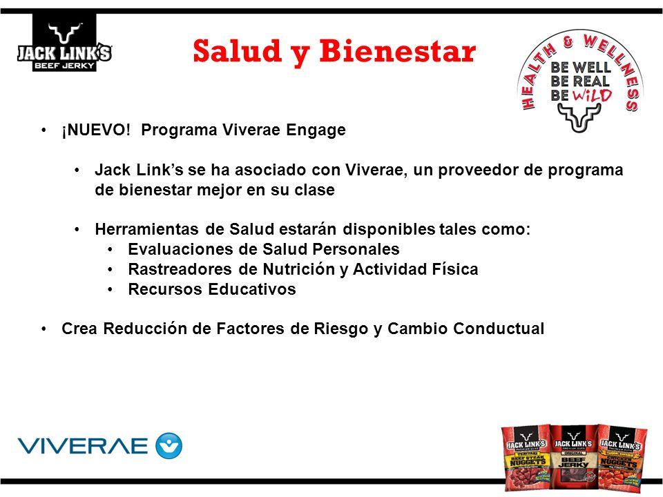 ¡NUEVO! Programa Viverae Engage Jack Links se ha asociado con Viverae, un proveedor de programa de bienestar mejor en su clase Herramientas de Salud e