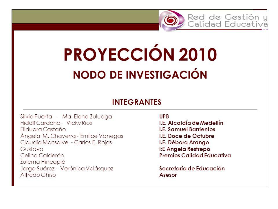 INTEGRANTES Silvia Puerta - Ma. Elena Zuluaga UPB Hidalí Cardona- Vicky Rios I.E.