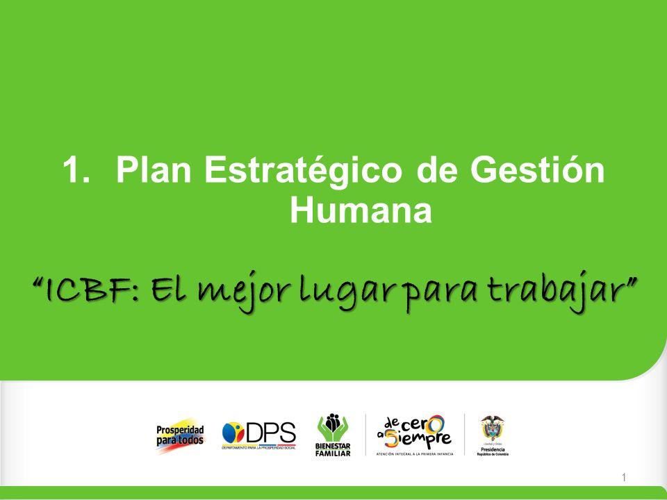 1.Plan Estratégico de Gestión Humana ICBF: El mejor lugar para trabajar 1
