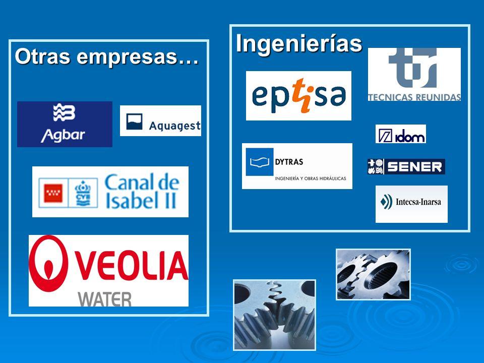 Otras empresas… Ingenierías
