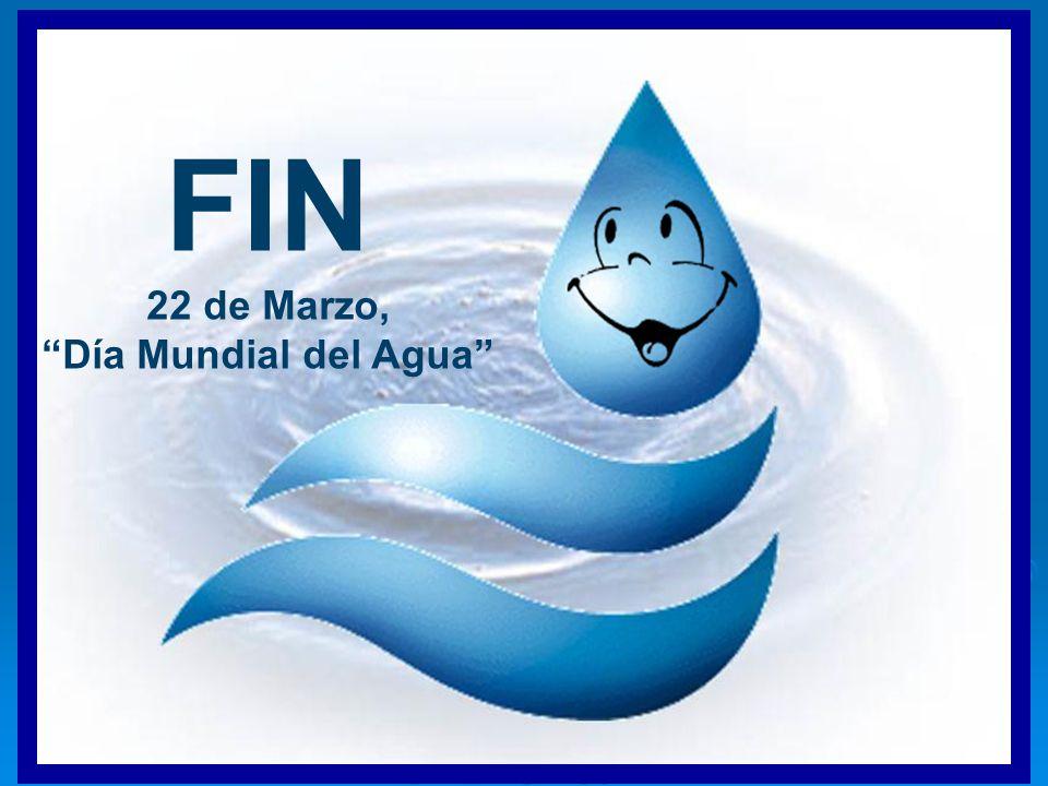FIN 22 de Marzo, Día Mundial del Agua