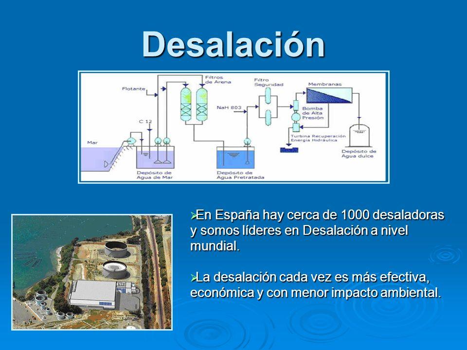Desalación En España hay cerca de 1000 desaladoras y somos líderes en Desalación a nivel mundial. En España hay cerca de 1000 desaladoras y somos líde