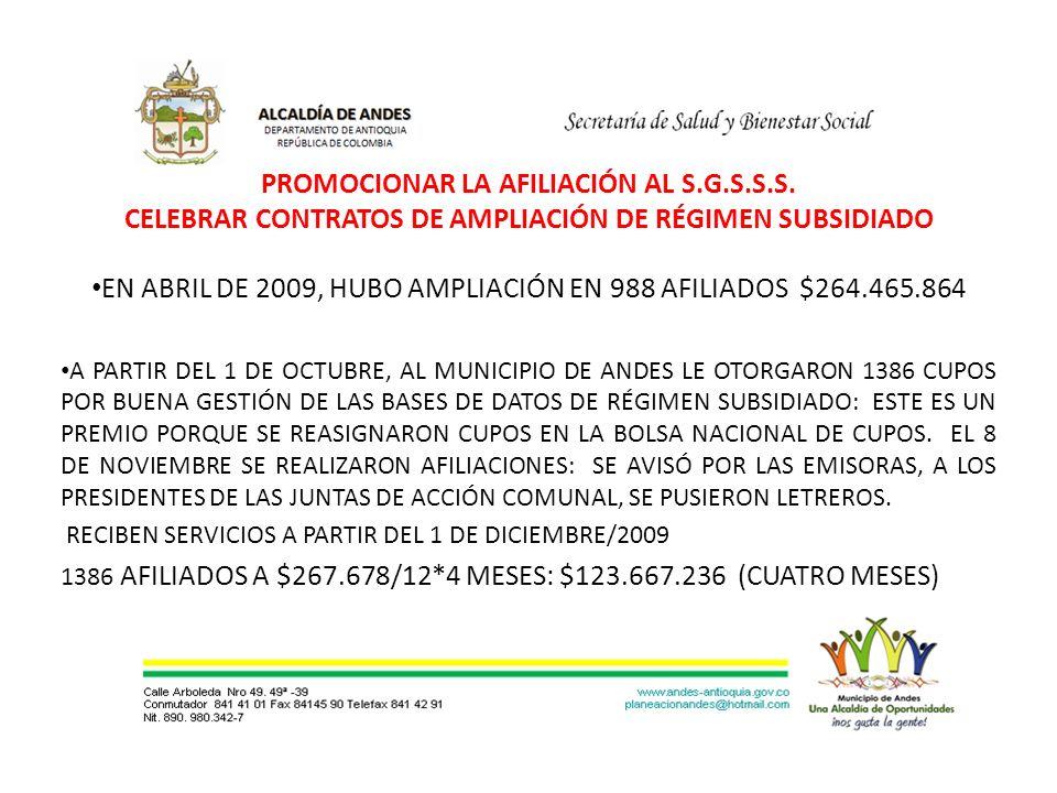 PROMOCIONAR LA AFILIACIÓN AL S.G.S.S.S.