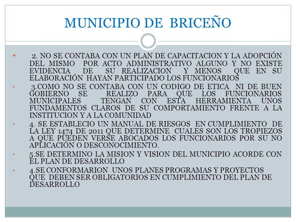 MUNICIPIO DE BRICEÑO 6.