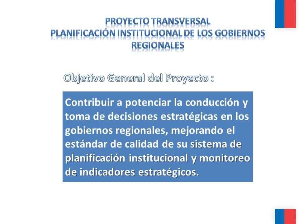 sistema de planificación institucional y monitoreo de indicadores estratégicos. Contribuir a potenciar la conducción y toma de decisiones estratégicas