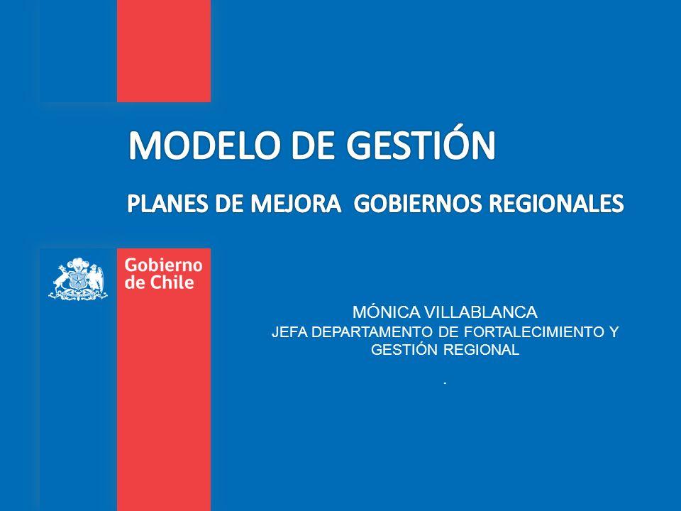 MÓNICA VILLABLANCA JEFA DEPARTAMENTO DE FORTALECIMIENTO Y GESTIÓN REGIONAL.