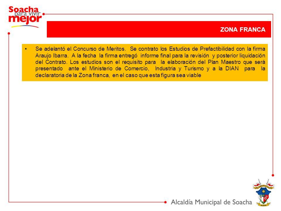 Se adelantó el Concurso de Meritos. Se contrato los Estudios de Prefactibilidad con la firma Araujo Ibarra. A la fecha la firma entregó informe final