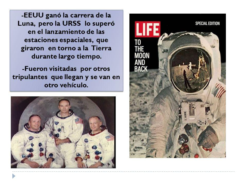 -EEUU ganó la carrera de la Luna, pero la URSS lo superó en el lanzamiento de las estaciones espaciales, que giraron en torno a la Tierra durante larg