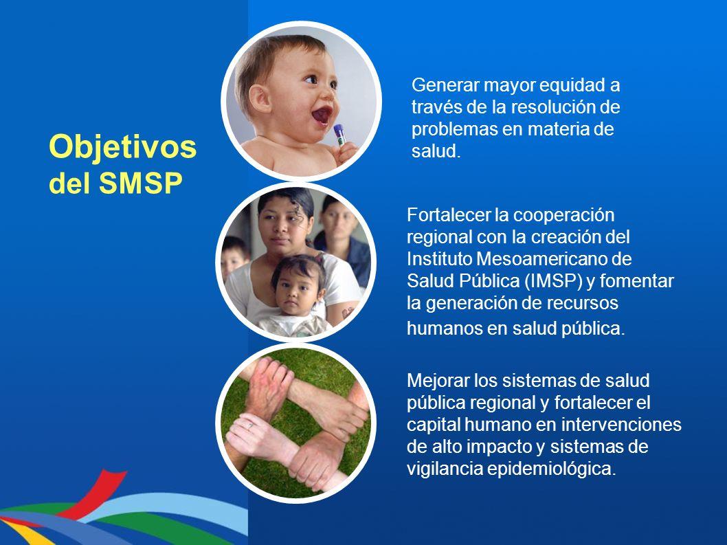 Objetivos del SMSP Mejorar los sistemas de salud pública regional y fortalecer el capital humano en intervenciones de alto impacto y sistemas de vigil