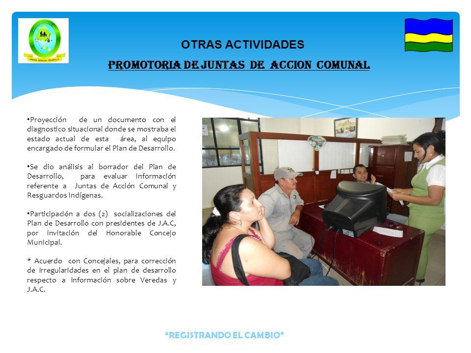 Se realizo la actualización de Archivos con documentación de Juntas de Acción Comunal. -Se presto atención y orientación a Directivos de J.A.C y ciuda