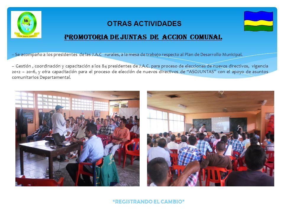 Apoyo a nueve (9) personas con la inclusión al campo laboral en la vía en construcción del municipio Evaluación del acta de elección de la organización de ASOJUNTAS.