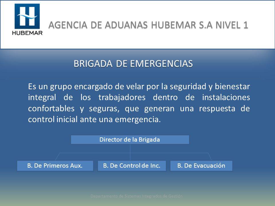 BRIGADA DE EMERGENCIAS Es un grupo encargado de velar por la seguridad y bienestar integral de los trabajadores dentro de instalaciones confortables y seguras, que generan una respuesta de control inicial ante una emergencia.