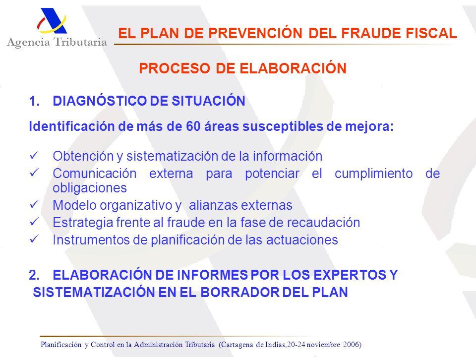 Planificación y Control en la Administración Tributaria (Cartagena de Indias,20-24 noviembre 2006) 1.DIAGNÓSTICO DE SITUACIÓN Identificación de más de