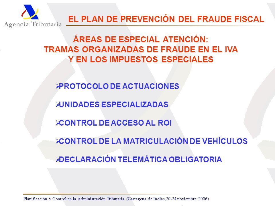 Planificación y Control en la Administración Tributaria (Cartagena de Indias,20-24 noviembre 2006) PROTOCOLO DE ACTUACIONES UNIDADES ESPECIALIZADAS CO
