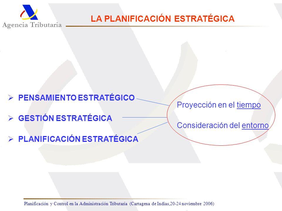 Planificación y Control en la Administración Tributaria (Cartagena de Indias,20-24 noviembre 2006) Agencia Tributaria LA PLANIFICACIÓN ESTRATÉGICA PEN