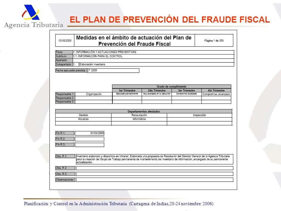 Agencia Tributaria EL PLAN DE PREVENCIÓN DEL FRAUDE FISCAL