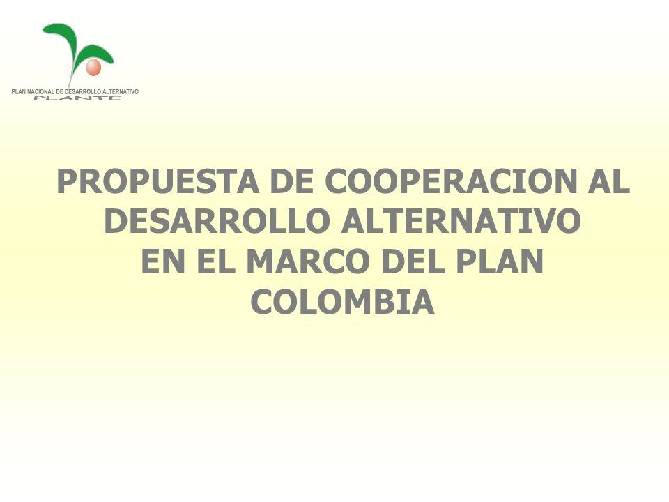 PROPUESTA DE COOPERACION AL DESARROLLO ALTERNATIVO EN EL MARCO DEL PLAN COLOMBIA
