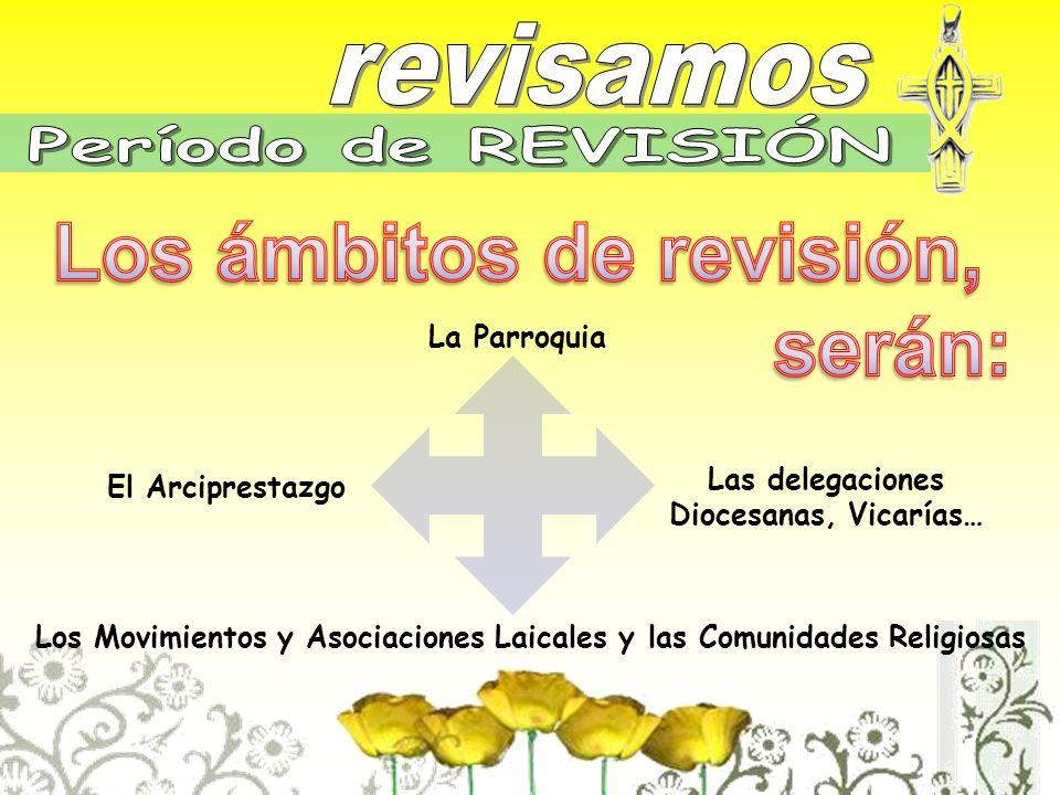 La Parroquia El Arciprestazgo Los Movimientos y Asociaciones Laicales y las Comunidades Religiosas Las delegaciones Diocesanas, Vicarías…