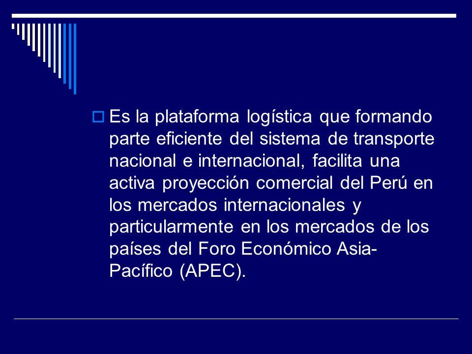 Puertos pivote globales, puertos pivote regionales, puertos pivote subregionales y puertos alimentadores Espina dorsal este-oeste, atravesada por eslabones norte-sur, dando origen a los puertos pivotes globales.
