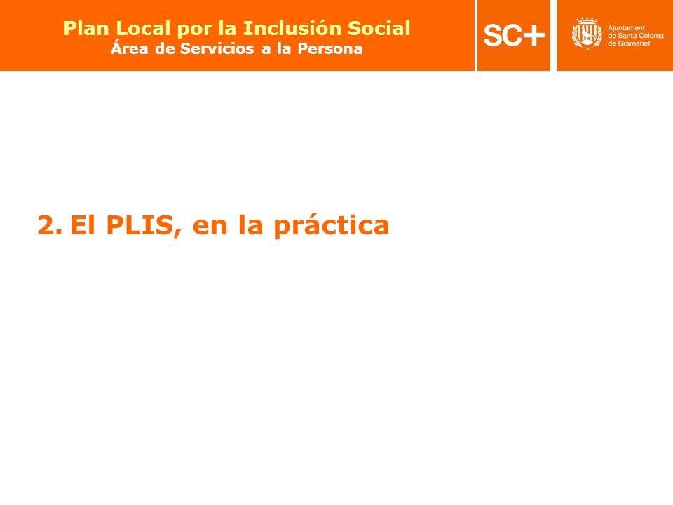 14 Pla Local per a la Inclusió Social Àrea de Serveis a la Persona 2.El PLIS, en la práctica Plan Local por la Inclusión Social Área de Servicios a la